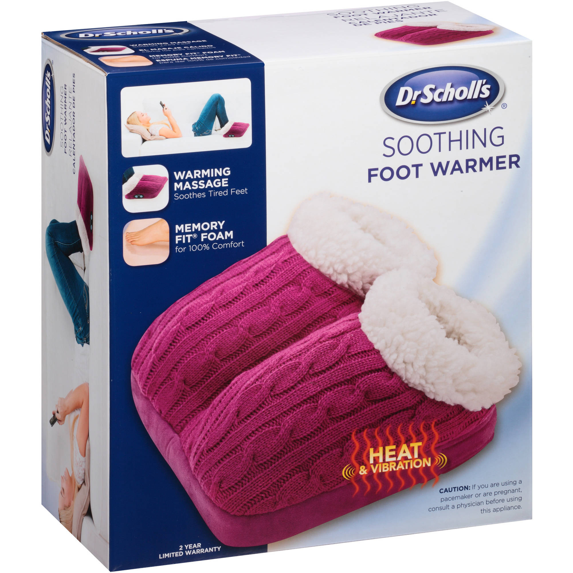 Dr. Scholl's Soothing Foot Warmer, Red