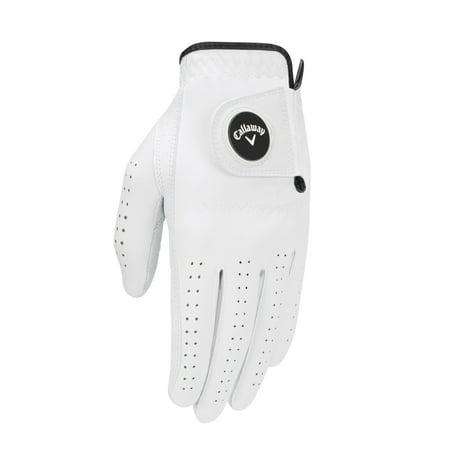 White Golf Glove - NEW Callaway OptiFlex White Men's Regular Left XL Golf Glove