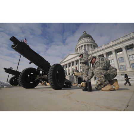 January 3 2011 - US Soldiers from the Utah National Guard clean up after firing a 19-gun salute during an inauguration ceremony at the Utah State Capitol building in Salt Lake City Utah Poster Print](Costume Shops In Salt Lake City)