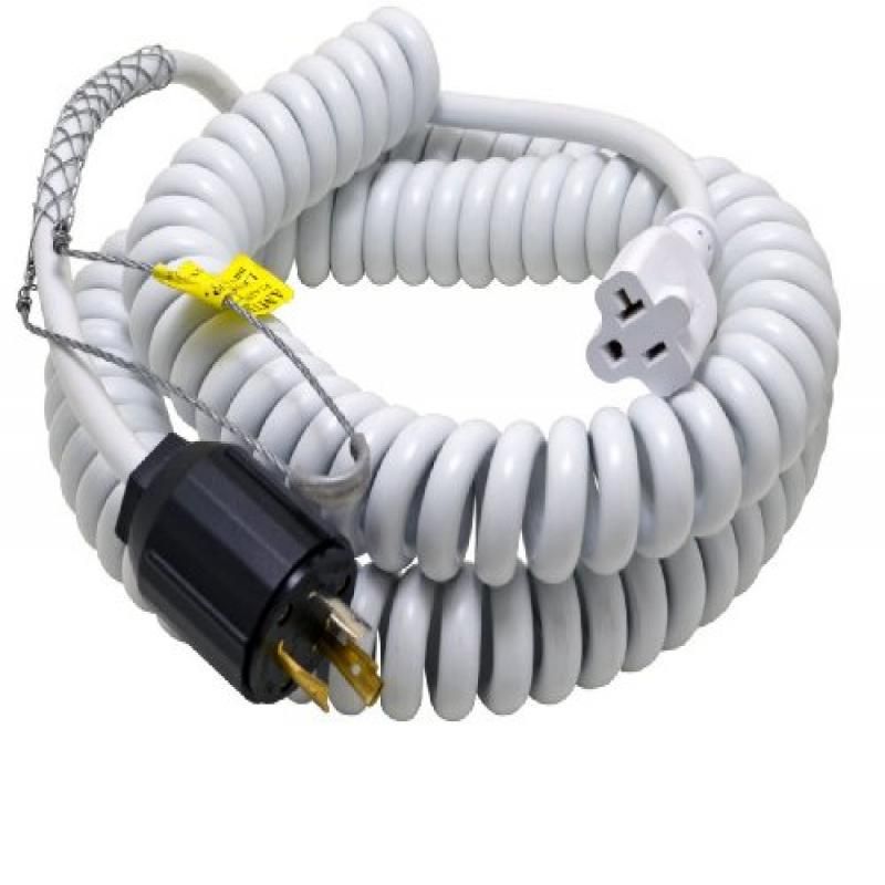 Conntek 70046-L530 Up to 15-Feet Heavy Duty 12/3 Coiled S...