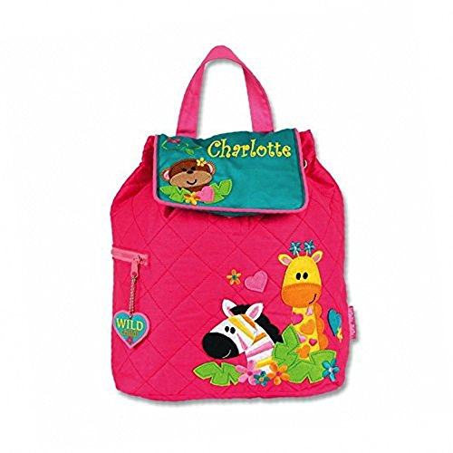 Personalized Pink Safari Fun Embroidered Backpack, CUSTOM