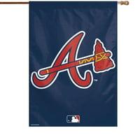 "Atlanta Braves WinCraft 28"" x 40"" Big Logo House Flag"