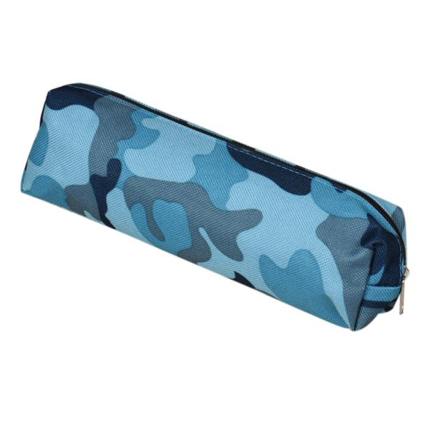 Mosunx 4 Colors Camouflage Pen Bag Pencil Case Pouch Stationery Cosmetic Makeup Bag uf