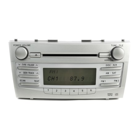 2010-11 Toyota Camry AMFM Radio mp3 Single Disc CD Player 86120-06480 Face 11846 - Refurbished (2001 Toyota Camry Cd Player)