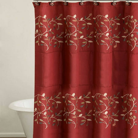 Popular Bath Aubury Burgundy Collection 70 X 72 Bathroom Shower Curtain