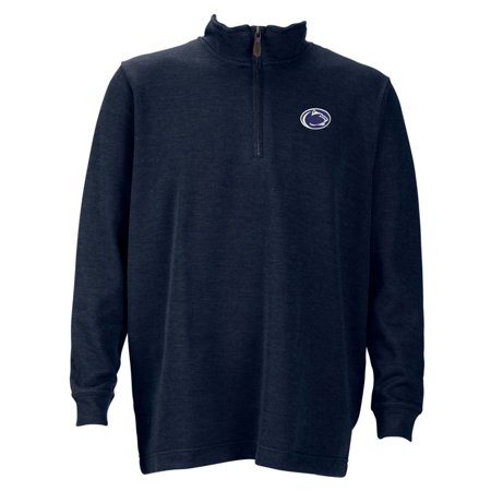 Penn State Mens 1 4 Zip Flat Back Rib Pullover  Color  Navy