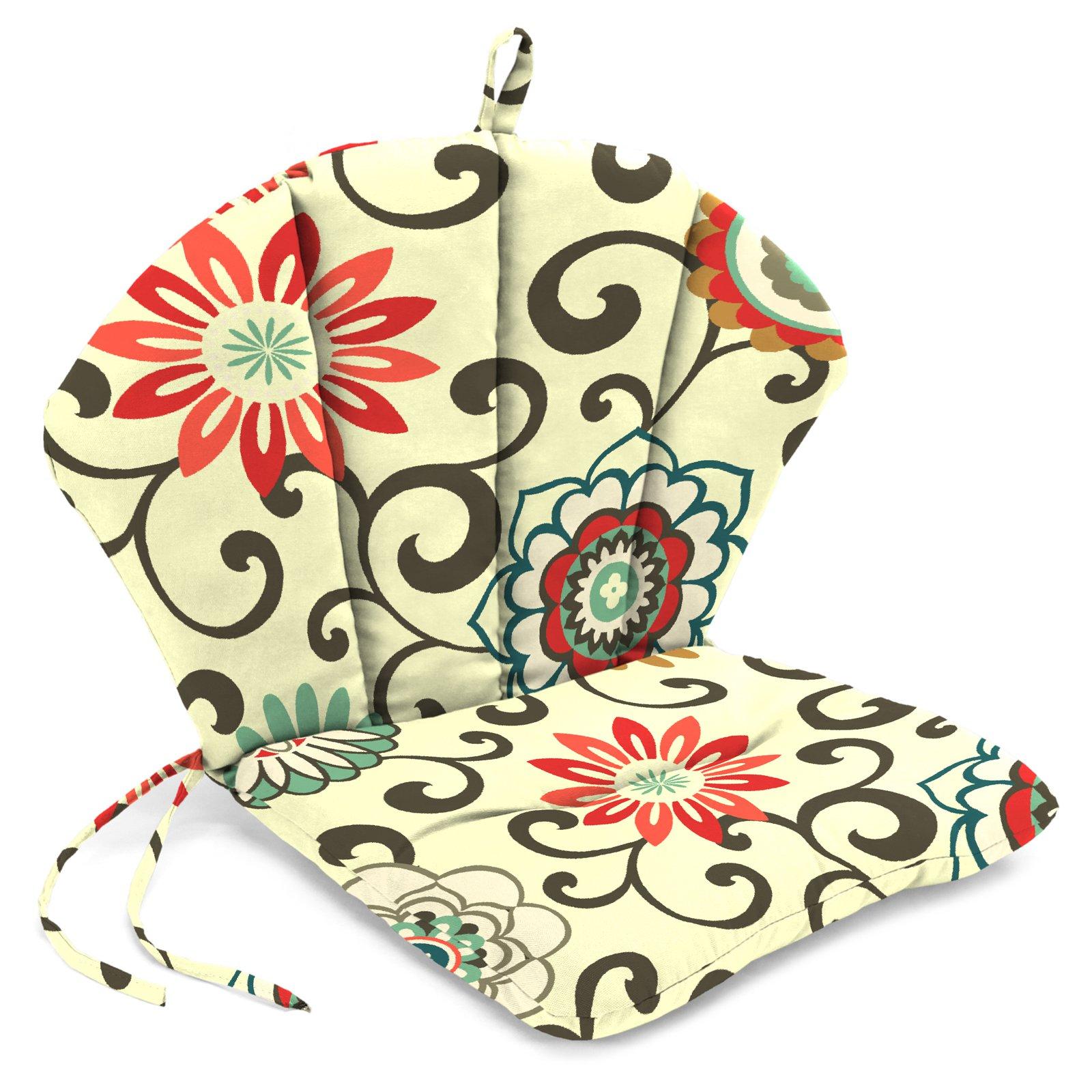 Jordan Manufacturing 30 X 18 In Barrel Back Chair Cushion Walmart