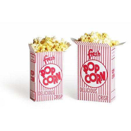Great Northern Popcorn 50 Premium Quality Movie Theater Style Popcorn Boxes 1.25 Ounce (Oz) Box - Red Popcorn
