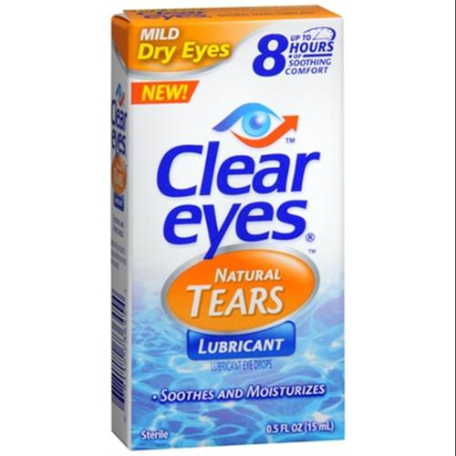 Clear Eyes Natural Tears Lubricant 0.50 oz (Pack of 4)