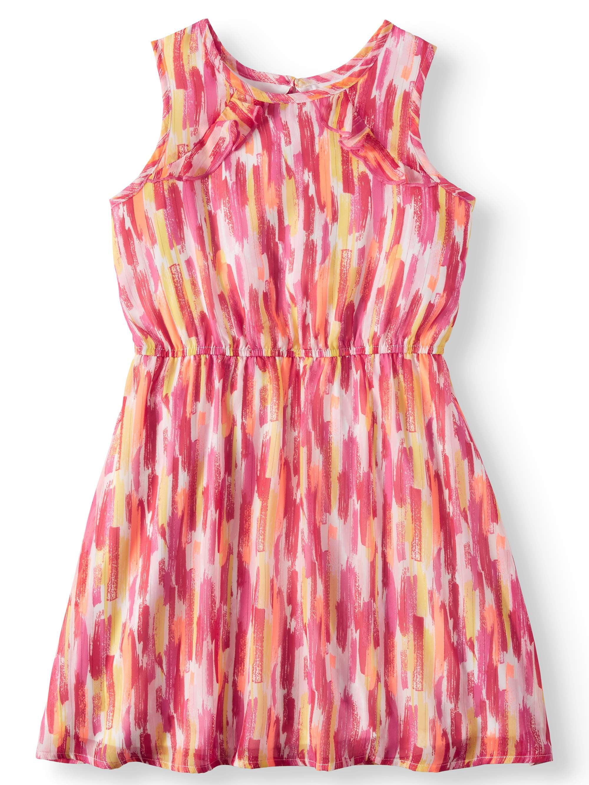 Lurex Chiffon Printed Dress (Little Girls & Big Girls)