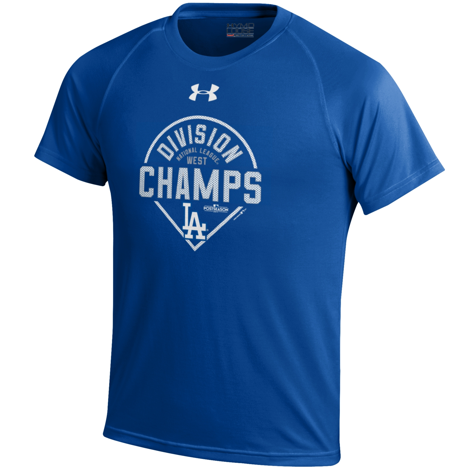 Youth Under Armour Royal Los Angeles Dodgers 2017 NL West Division Champions Tech T-Shirt