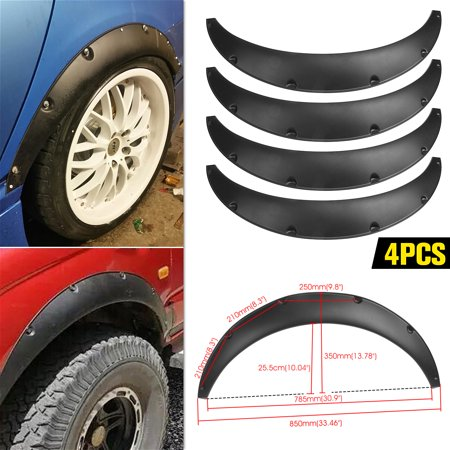 "Universal 4pcs Wheels PP 2.75""/70mm Fenders Flares JDM Over Wide Body Wheel Arches"