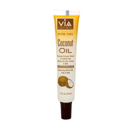 Via Natural Ultra Care 1.5 FL. Oz. Coconut Oil for Hair, Scalp &