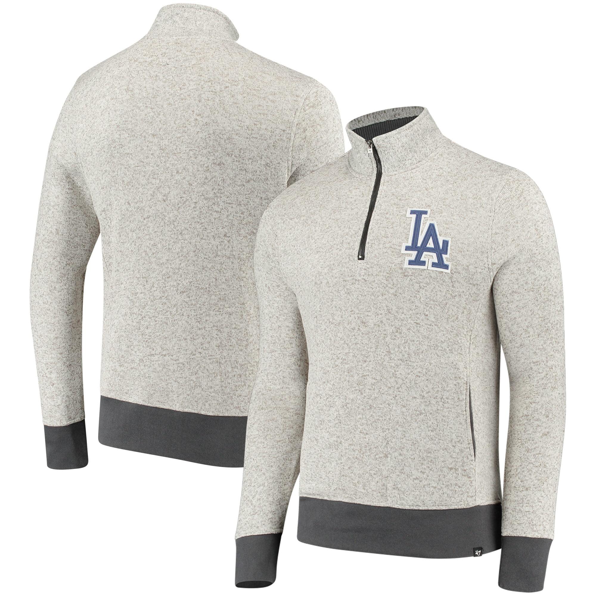 Los Angeles Dodgers '47 Kodiak Quarter-Zip Pullover Jacket - Cream