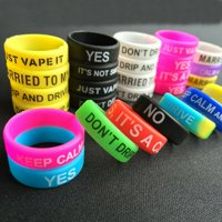 10 PACK Mixed colors Decor Bands Anti Slip Protective Silicone Rings 22mm