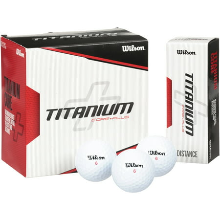 Wilson Titanium Golf Balls, 18 Pack (Led Golfball)