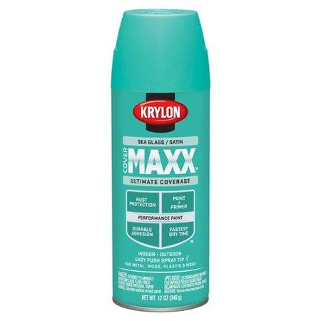 Krylon Covermaxx Spray Paint Satin Sea Glass