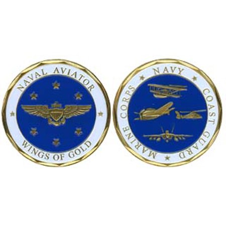 Naval Aviation 'Wings of Gold' 1-1/8 Inch Challenge Coin