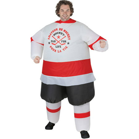 Hockey Player Inflatable Men's Adult Halloween Costume, One Size Fits Most