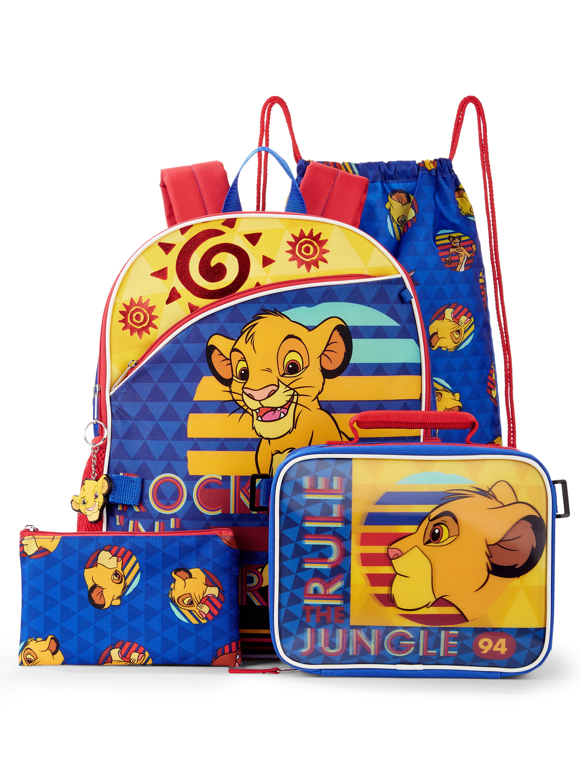 The Lion King 5 Piece Backpack Set