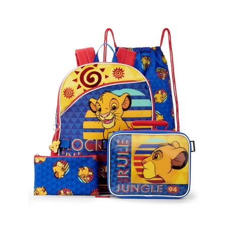 Lion King 5 Piece Backpack Set (Walmart Exclusive)