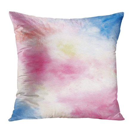 ECCOT Colorful Artistic Watercolor Abstract Pink Yellow and Blue Bright Wash for Wedding Green Blob Blot Brush Pillowcase Pillow Cover Cushion Case 20x20 inch](Green And Blue Wedding)