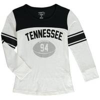 Tennessee Volunteers Girls Youth Long Sleeve Stripe Football T-Shirt - White/Black