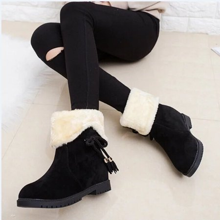 - Snow Boots Winter Ankle Boots Women Shoes Heels Winter Boots Fashion Shoes BK/37