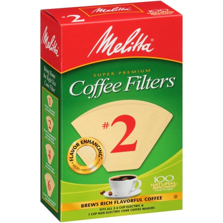 (11 Pack) Melitta #2 Natural Brown Cone Coffee Filters, 100 (Melita Coffee Filters)