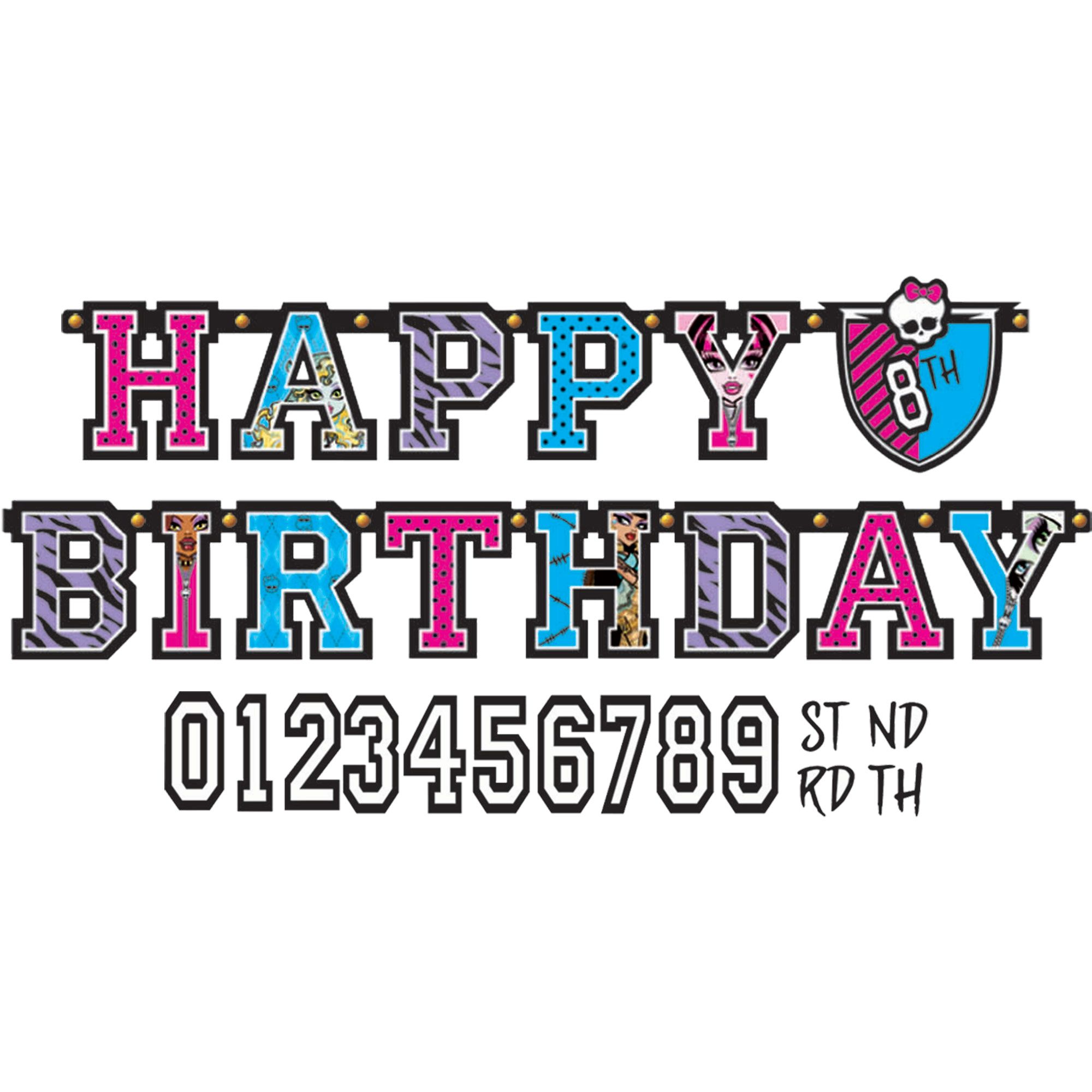 Monster High Add An Age Banner - Party Supplies