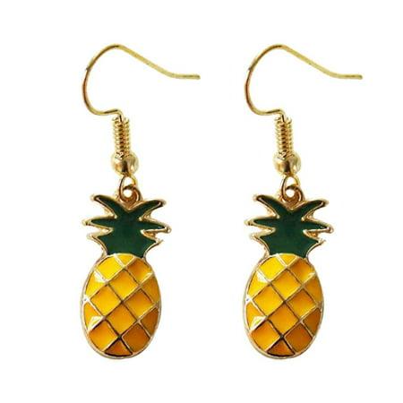 Fysho Women Temperament Lovely Earrings Fruit Watermelon Strawberry Kiwi Long -