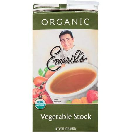 Emeril's Vegetable Stock 32 Oz Aseptic Pack (Pack of