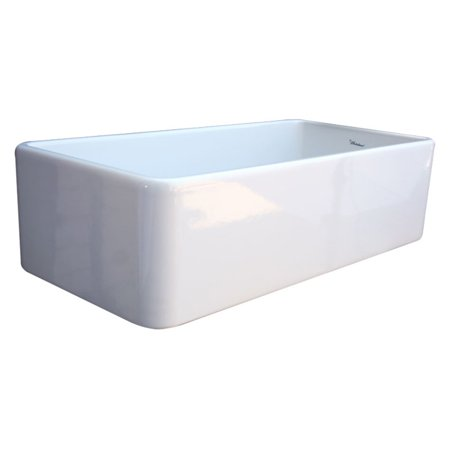 Whitehaus Farmhaus Fireclay Quatro Alcove - WhiteHaus Large Quatro Alcove WH3618 36 in. Single Basin Sink with Integral Drain Board