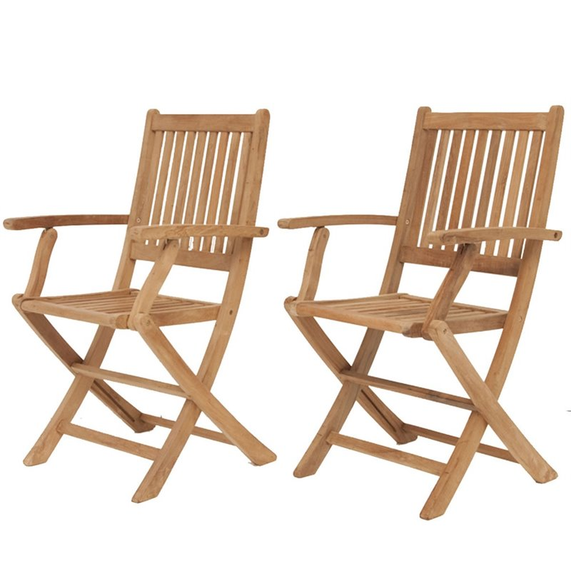 Pemberly Row Folding Armchair (Set of 2)