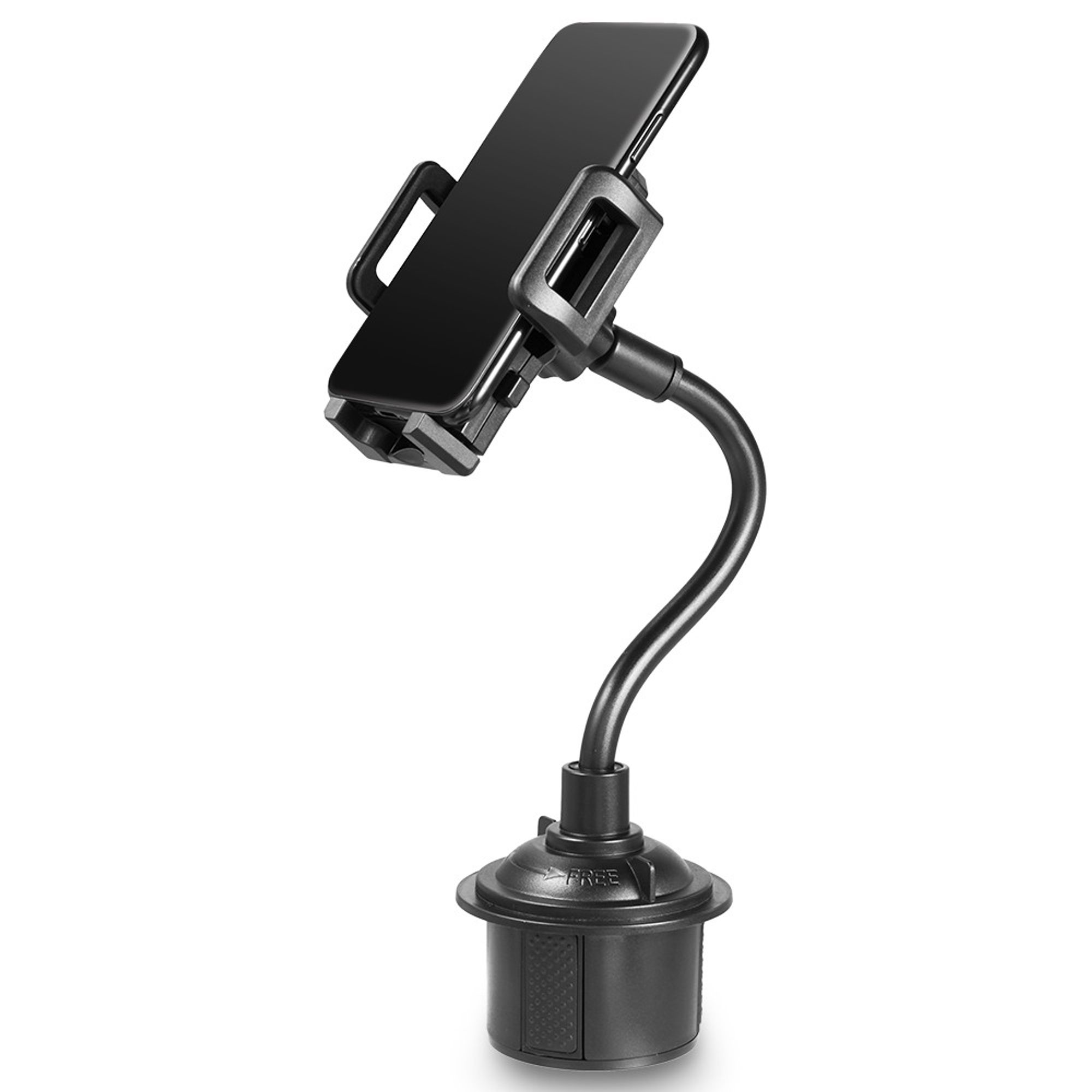 insten universal cell phone cup holder car mount with long