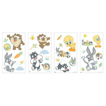 Baby Looney Tunes Decorative Wall Stickers - Walmart.com