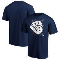 Men's Fanatics Branded Navy Milwaukee Brewers Team Streak T-Shirt