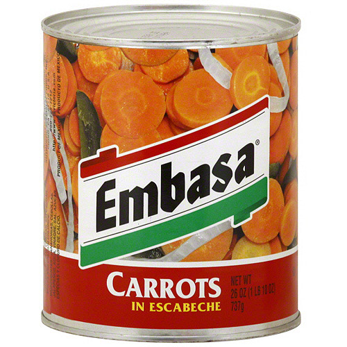 Embasa Carrots With Escabeche, 26 oz (Pack of 12)