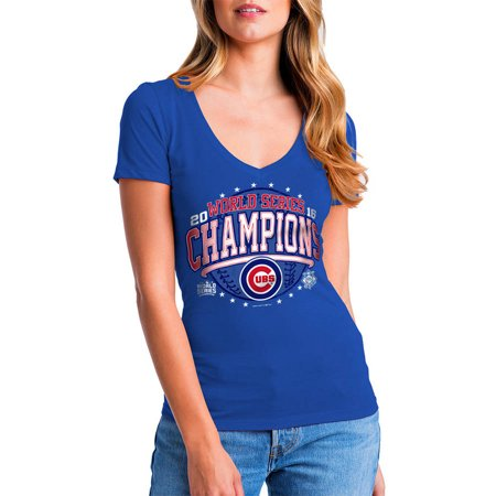 Mlb Chicago Cubs Womens 2016 World Series Champs Short Sleeve Baby Jersey Tee