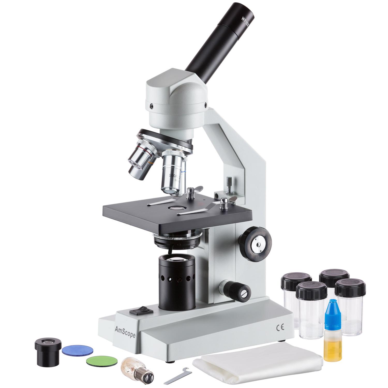 AmScope 40x-2500x Advanced Home School Compound Microscope New
