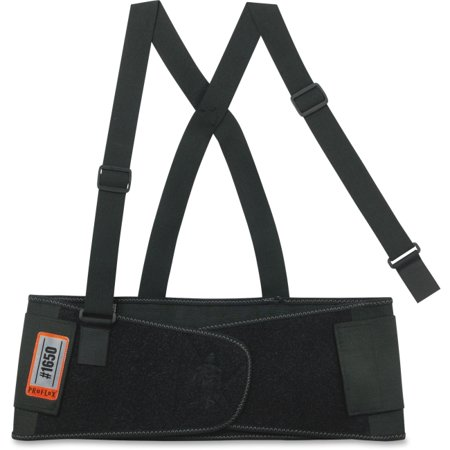 Ergodyne ProFlex Economy Elastic Back Support - Strap Mount - Black