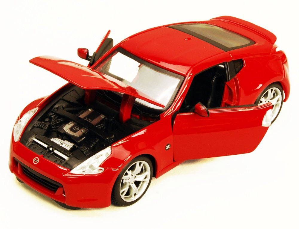 2009 Nissan 370Z, Red Maisto 34200 1 24 Scale Diecast Model Toy Car (Brand but NOT IN BOX) by Maisto