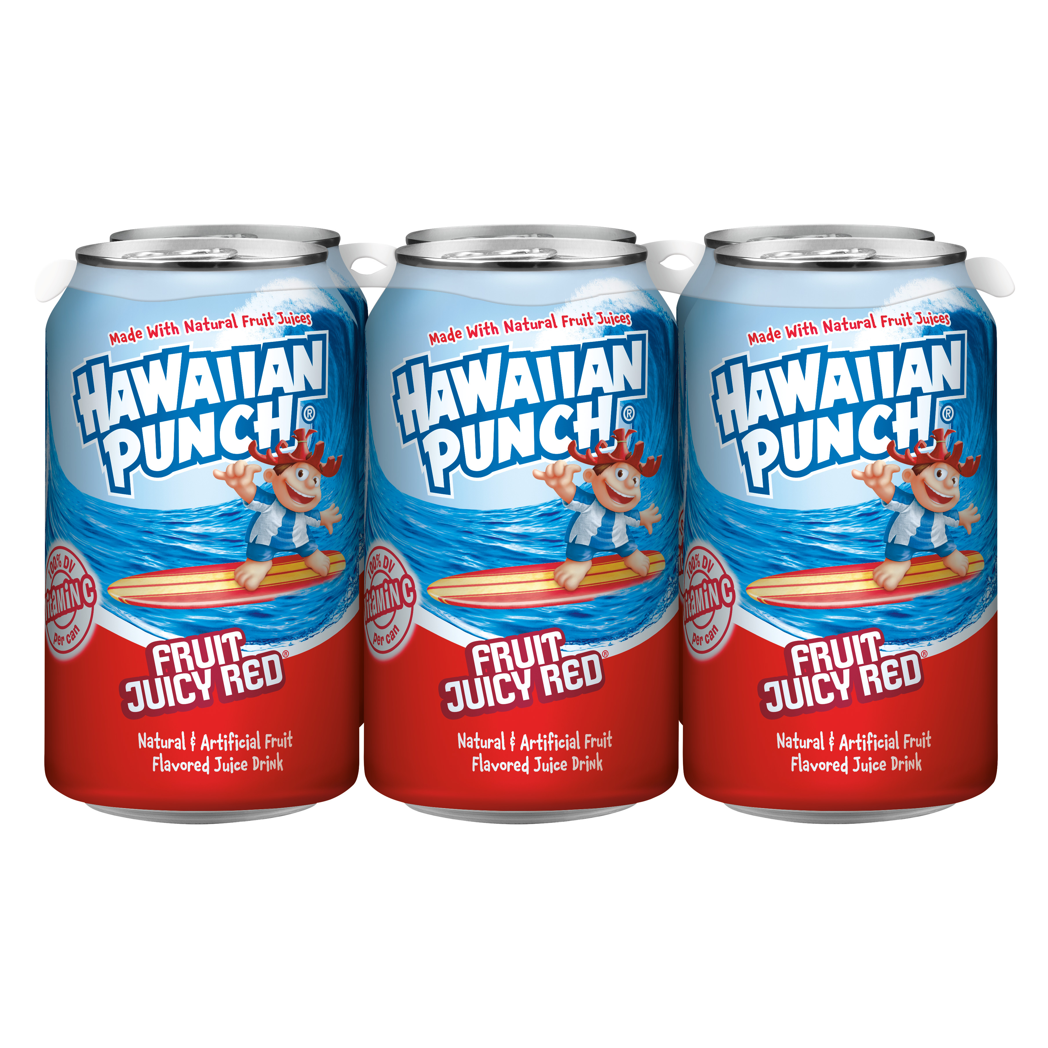 Hawaiian Punch Gluten-Free Fruit Juicy Red Juice Drink, 12 Fl. Oz., 6 Count