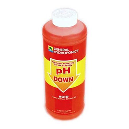 Ph Down Liquid Ph Adjuster   1 Quart   By General Hydroponics   Microgreens  Seed Starting