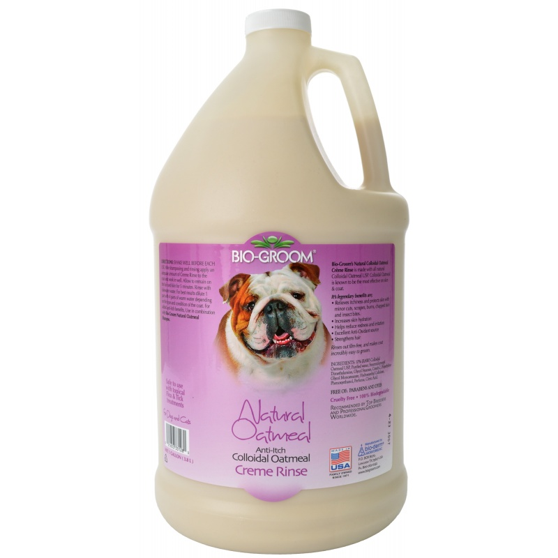 Bio-Groom Natural Oatmeal Creme Rinse Conditioner, 1 Gallon