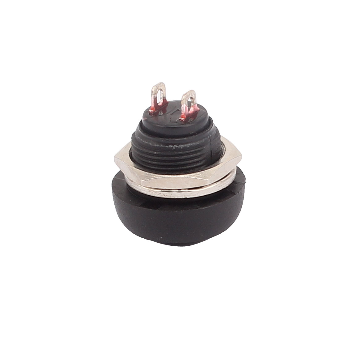 250V 1A 12mm Dia  Push Button Switch Momentary Type Black Plastic Head - image 1 de 2