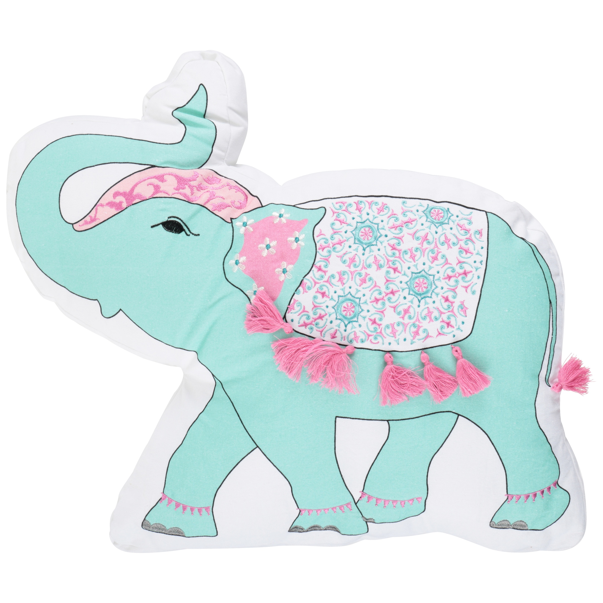 Better Homes and Gardens™ Embroidered Elephant Pillow