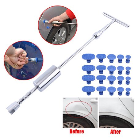 Auto Body Paintless Dent Removal Tools, Dent Puller Kits For Car Hail Damage Car Door Dings Repair, w/ 28PCS Glue Pulling Tabs For Car Hail Damage And Door Dings