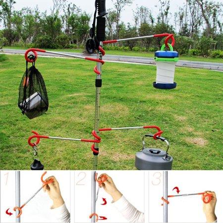 Camping Hook Hanger S Shaped Outdoor Bag Hanger Tent Lantern Arm Holder Travel Light Lamp Hook Fishing Adventure Tool - image 7 of 7