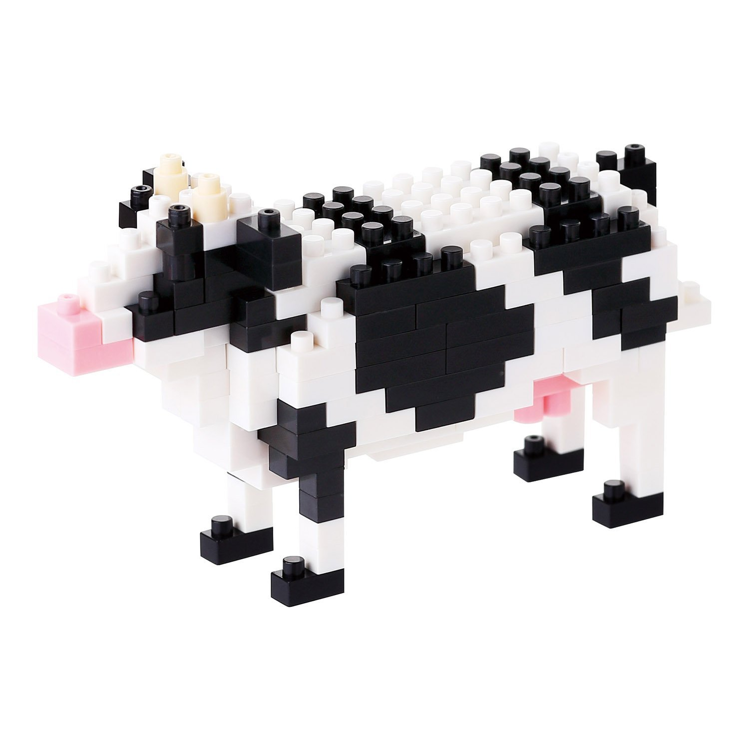 Nanoblock Cattle Cow Building Kit, Officially Licensed by Kawada By Kawada by